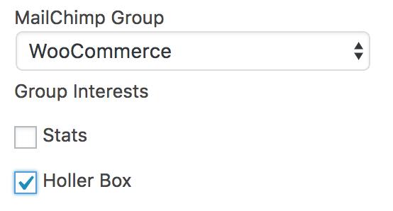 MailChimp Groups