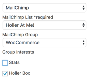 Holler Box MailChimp Settings