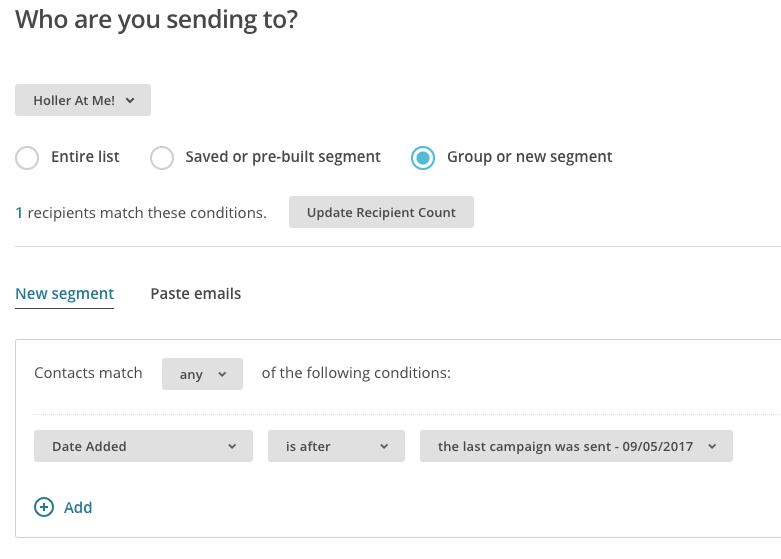 MailChimp Campaign Segment